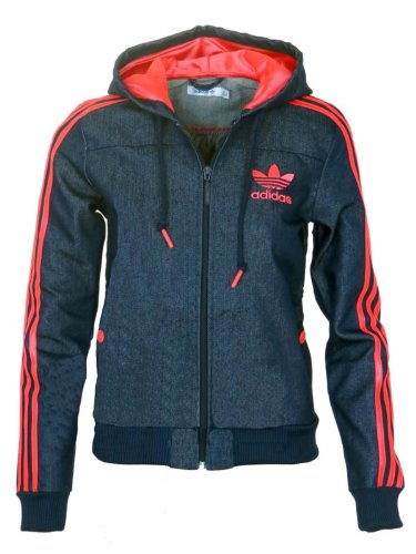 Adidas Originals Womens Denim Zip Up Hoody -