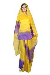 Woman's Pure Cotton Rajputi Dress Material Sunrise Paridhan (Lehenga,Kurti,Odhni)