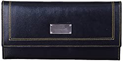 Leather Ways Women's Clutches (Black)