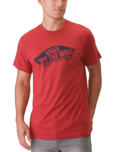 Vans Otw Men's T-Shirt Red Heather/True Navy Large