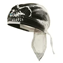 Sweat Band Series Headwrap-Airbrushed Skull W13S14F