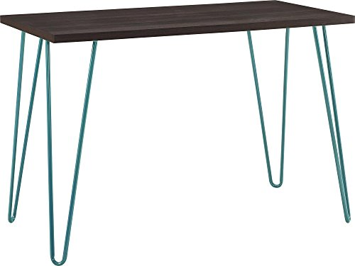 Altra Owen Retro Desk, Espresso/Teal (Espresso Desk Small compare prices)
