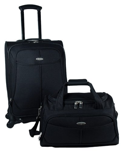 Samsonite Luggage Two Piece Nested Set, Black, One Size B005B8FDVC