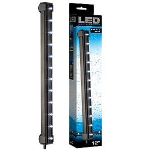 ViaAqua 12in 2.7 watt White LED Light & Airstone