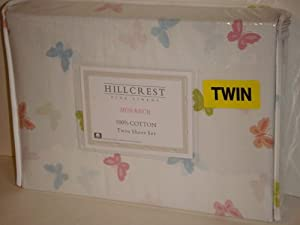 Hillcrest Butterfly Twin Sheet Set (Monarch)