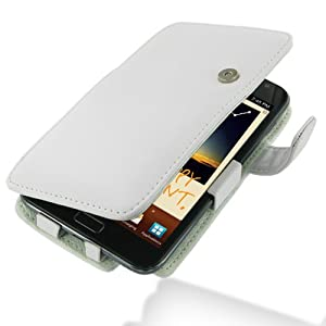 PDair Leather Case for Samsung Galaxy Note GT-N7000 - Book Type (White)