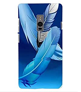 ColourCraft Lovely Feathers Design Back Case Cover for ONEPLUS TWO