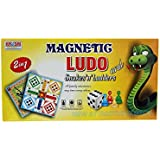 Jupiterenterprises Ludo Junior,ludo,board Game ,multicolour Square Magnetic Board And 16 Piecesand 1dice,hd Printing.