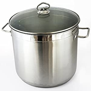 relaxdays gmbh jumbo cooking pot xxl all purpose stockpot stainless steel 20l. Black Bedroom Furniture Sets. Home Design Ideas