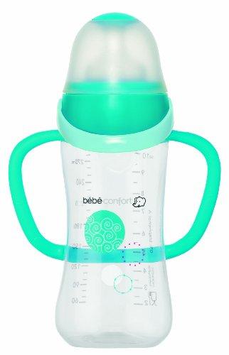 Bébéconfort 30000693 - Biberon a collo largo ergonomico con manici, 270 ml, colore: Azzurro