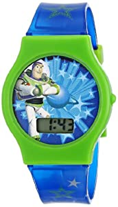 Disney Kids' TY1096 Toy Story Watch with Blue Jelly Band