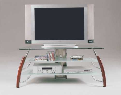Cheap Acme 02730 Martini TV Stand, Cherry/Chrome Finish (B005G4U4AQ)