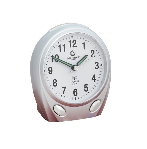 On-Time® Talking Atomic Alarm Clock