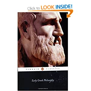 Early Greek Philosophy (Penguin Classics) Various and Jonathan Barnes