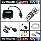 Sky4Less io box 20m Global Magic Eye Package / Sky HD Remote Control / Global Sky Magic Eye / iO-Box tv Link 20M Cable For Viewing Sky In Another Room