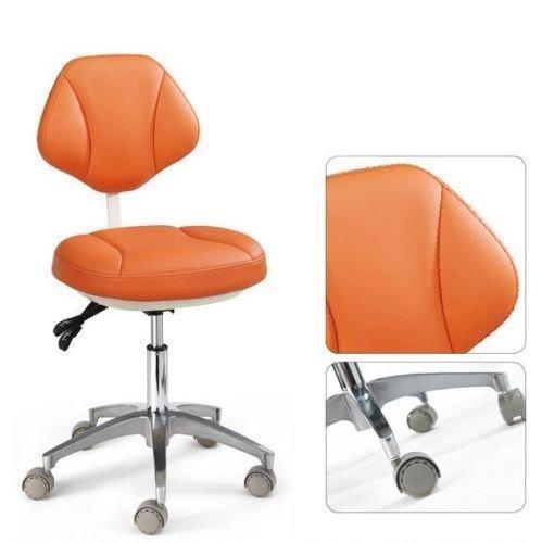 Assistente Bestdental Medical-Sgabelli da ufficio, altezza regolabile, Mobile, colore: arancione