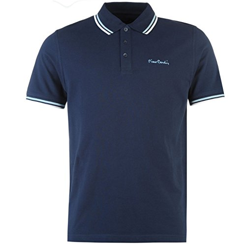 pierre-cardin-tipped-polo-shirt-mens-navy-top-t-shirt-tee-medium