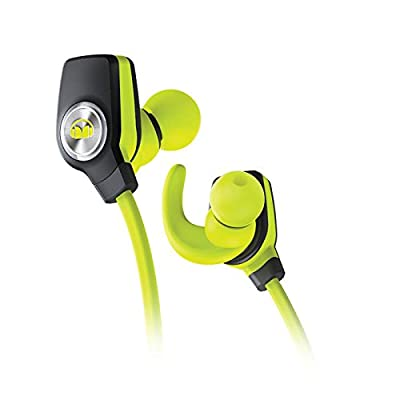 Monster iSport Sweat-Proof Bluetooth Wireless Super Slim In-Ear Headphones with Water-Resistant Ear Clips