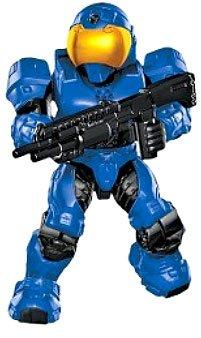 Halo Wars Mega Bloks Loose Mini Figure Blue Unsc Spartan Security With  Shotgun