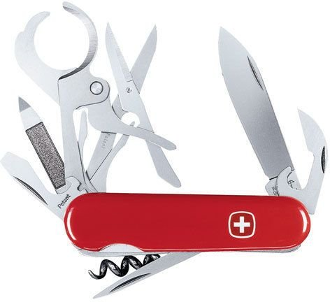 Wenger 16881 Swiss Army Knife With Cigar Cutter Implement Ergonomic Design 2.5-Inch Blade Stainless Steel