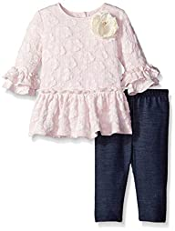 Pippa & Julie Baby-Girls Lace Knit Pl…