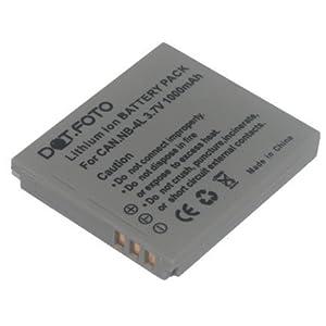 Dot.Foto Batterie de qualité pour Canon NB-4L - 1000mAh / 3,7v - Entièrement 100% compatibles - garantie de 2 ans [Pour la compatibilité voir la description]
