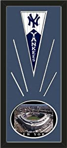 New York Yankees Wool Felt Mini Pennant & Yankee Stadium, First Opening Day Photo... by Art and More, Davenport, IA