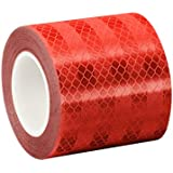 "TapeCase Red Micro Prismatic Sheeting Reflective Tape Converted from 3M 3432, 1.5"" x 5 yd"