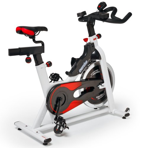 Exercise Deluxe Indoor Exercise Bike - White