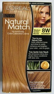 L'Oreal Natural Match Hair Color, 8W Medium Golden Blonde