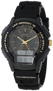 Casio WS300-1EV Men's Full LCD Ana-Digi Illuminator Sport Watch
