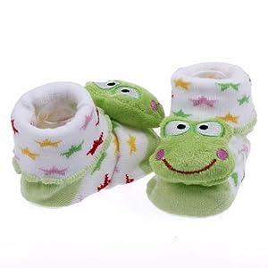 V-SOL Zapatos Botas Calcetines Verde Rana Ornato Tejer Lindo Botines Para Bebé Recién Nacido de V-SOL - BebeHogar.com