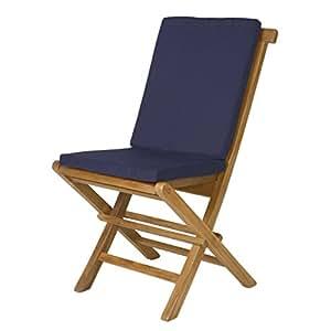 2 Folding Chair Cushions BLUE Patio Furniture Cushions Pat