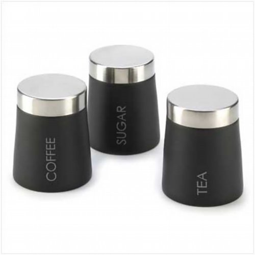 MODERN TRIO STAINLESS STEEL CLASSIC KITCHEN CANISTER SET