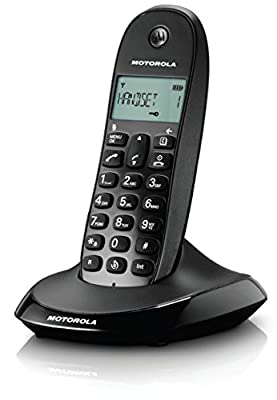 MOTOROLA C1001LI CORDLESS PHONE - BLACK