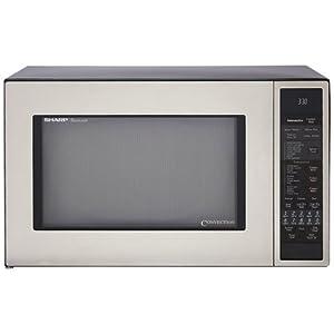 Sharp R-930CS 1-1/2-Cubic Feet 900-Watt Convection Microwave, Stainless