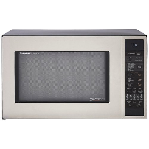 Sharp R-930CS 1-1/2-Cubic Feet 900-Watt Convection Microwave, Stainless (Small Microwave Convection Oven compare prices)