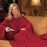 Snuggie Luxury MicroPlush Snuggie Blanket with Sleeves in Berry Red