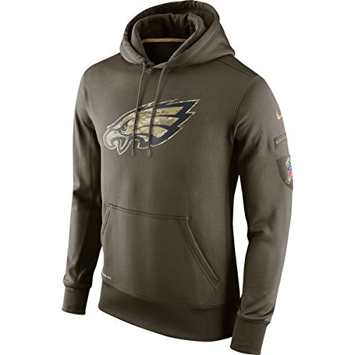Philadelphia Eagles 2015 Salute to Service Nike Hoodie Mens X-Large (XL) *Runs One Size Small* (2014 Salute Service compare prices)