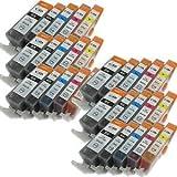 30-Pack (6BK/6BK/6C/6M/6Y) Non-OEM