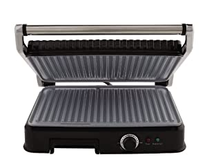 Oster CKSTPM6001-ECO Extra Large DuraCeramic Panini Maker and Indoor Grill by Oster