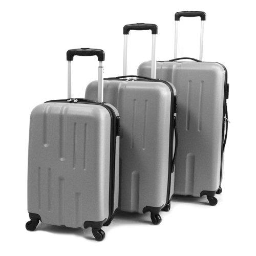 Viaggio Lightweight 3-teiliges Kofferset Silber