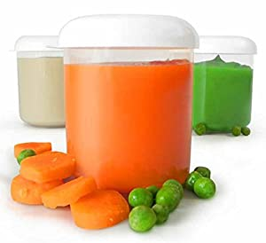 Baby Food Storage Containers with Lids - 12/5oz Jar Set BPA Free - Freezer Safe