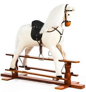 The 1 for U White Large Rocking Horse - Precious