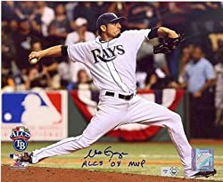 Matt Garza Autographed / Signed ALCS vs Red Sox 8x10 Photo
