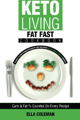 Keto Living - Fat Fast Cookbook: A Guide to Fasting for Weight Loss Including 50 Low Carb & High Fat Recipes (Volume