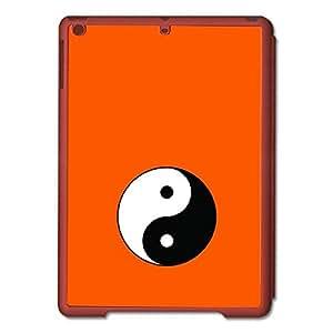 """Skin4gadgets Taoism Symbol """" Circle Divided in Tear Drop Halves"""" on English Pastel Color-Orange Tablet Designer SMART CASE for IPAD AIR1"""