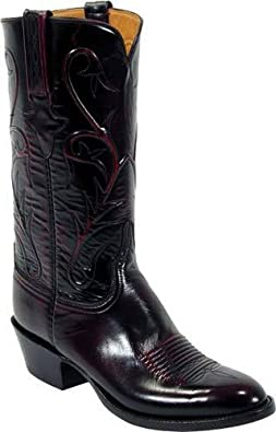 Lucchese Men's Roma Cord Black Cherry Boots 13D