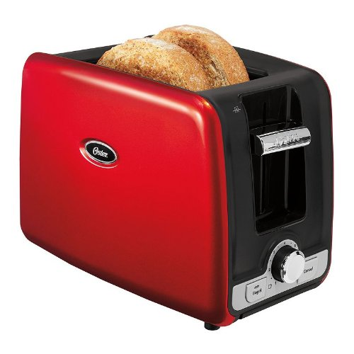 Oster 2-Slice Toaster with Retractable Cord-RED (Oster Toaster 2 Slice Red compare prices)