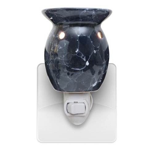 Electric Wall Plug-In Marble Look Wax And Oil Warmer (Marble Blue)